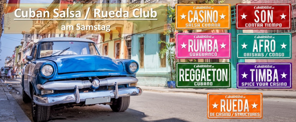 Cuban Salsa / Rueda Club am Samstag im RS-Dancestudio